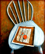 Kitchen Chair Paintings - Still Life - Chair With Fruit by Vivian ANDERSON
