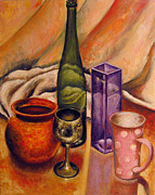 Vladimir Kezerashvili - Still life with bottle