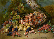 Fruit Basket Prints - Still Life with Fruits Print by Madeleine Jeanne Lemaire