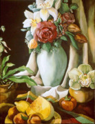 Mellon Fine Art Art - Still Life With Melon by Alfred Ng