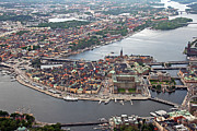 Areal Prints - Stockholm Aerial View Print by Lars Ruecker