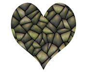 Cherish Prints - Stone Heart Print by Michal Boubin