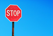 Traffic Control Photo Posters - Stop sign Poster by Luis Santos