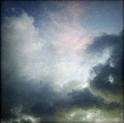 Dark Background Prints - Storm clouds Print by Les Cunliffe