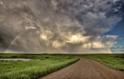 Flour Digital Art Framed Prints - Storm Clouds Prairie Sky Saskatchewan Framed Print by Mark Duffy