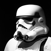 Star Prints - Stormtrooper Print by Chris Thomas
