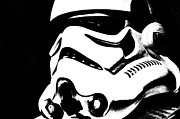 Science Fiction Prints - Stormtrooper Helmet 27 Print by Micah May