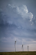 Turbulent Skies Metal Prints - Stormy Skies Metal Print by Jim McCain
