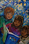 Kids Books Metal Prints - Story Time Metal Print by Regina Halushka