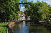 Alsace Framed Prints - Strasbourg Canal View Framed Print by Dave Mills