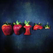 Red Fruit Art - Strawberries by Joana Kruse