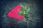 Strawberry Mixed Media - Strawberry by Angela Doelling AD DESIGN Photo and PhotoArt