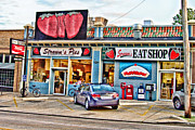 Local Food Photo Prints - Strawns Eat Shop Print by Scott Pellegrin