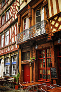 European Restaurant Metal Prints - Street in Rennes Metal Print by Elena Elisseeva
