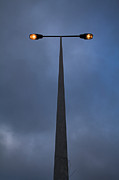 Streetlamp Posters - Street-lamp At Evening Poster by Lusoimages