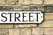 Street Sign Print by Tom Gowanlock