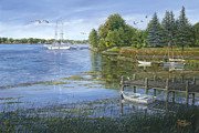 Lake Michigan Painting Originals - Sturgeon Bay by Doug Kreuger