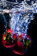 Strawberry Art Metal Prints - Submerged Forever Metal Print by Jon Glaser