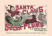 White Sugar Mixed Media Posters - Sugar Plums Label 1868 Poster by Unknown - L Brown