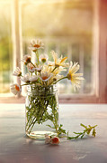 Sandra Cunningham - Summer daisies in glass jar
