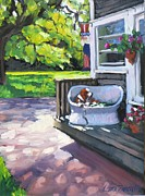 Shadows Paintings - Summer Day on the Cape by Laura Lee Zanghetti