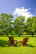 Lawn Chair Metal Prints - Summer relaxing Metal Print by Elena Elisseeva