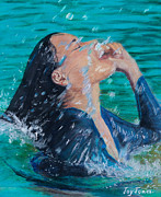 Young Woman Pastels - Summer Splash by Joy Ballack