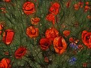 Poppies Field Art - Summer Wind by Joachim G Pinkawa