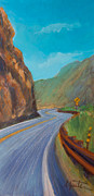 Highway Painting Posters - Sunday Drive Poster by Athena  Mantle
