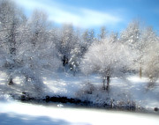 Snow-covered Landscape Digital Art Prints - Sunday Morning Print by Gothicolors And Crows