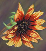 Greeting Card Pastels Originals - Sunflower by Sarah Dowson