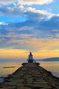 Lighthouse Metal Prints - Sunrise at Spring Point Lighthouse Metal Print by Diane Diederich