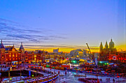 Amsterdam Digital Art - Sunrise in Amsterdam by Pravine Chester