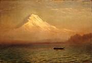 Famous Artists - Sunrise on Mount Tacoma by Albert Bierstadt