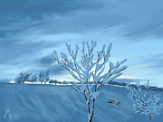 Winter Art - Sunrise by Veronica Minozzi