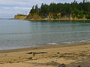 State Parks In Oregon Metal Prints - Sunset Bay State Park Metal Print by Gail Peters