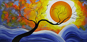 Fantasy Tree Art Paintings - Sunset by Betta Artusi