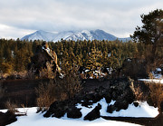 Snow Capped Mountains Framed Prints - Sunset Crater  Framed Print by Gilbert Artiaga