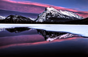Alberta Landscape Photos - Sunset Mount Rundle by Mark Duffy