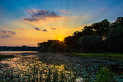 Mn Framed Prints - Sunset on Lake Masterman Framed Print by Adam Mateo Fierro