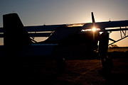 Sunset Plane Print by Paul Job