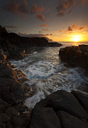 North Shore Prints - Sunset Pool Print by Mike  Dawson