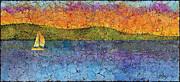 Sunset Sail Print by Elaine Allen