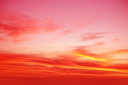 Red Sunset Framed Prints - Sunset sky Framed Print by Les Cunliffe