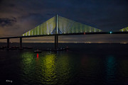 Sunshine Skyway Bridge Tampa Florida Print by Rene Triay Photography