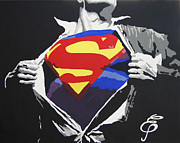 Erik Pinto Metal Prints - Superman Metal Print by Erik Pinto