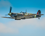 Historic Aircraft Prints - Supermarine Spitfire Mk.Vc Print by Puget  Exposure