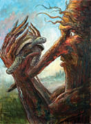 Surrealism Painting Originals - Surprise Encounter by Frank Robert Dixon