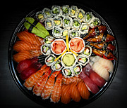 Food Photo Framed Prints - Sushi party tray Framed Print by Elena Elisseeva