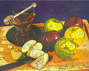 Printmaking Mixed Media - Sweet Beginnings by Judith Rothenstein-Putzer